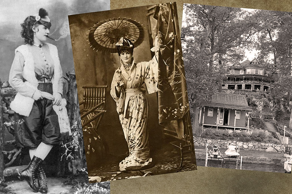 Cigar-smoking Lotta Crabtree, known as Miss Lotta, was an entertainer during the gold rush.