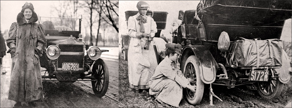 1909 Daredevil Alice Ramsey one of the first women race car drivers