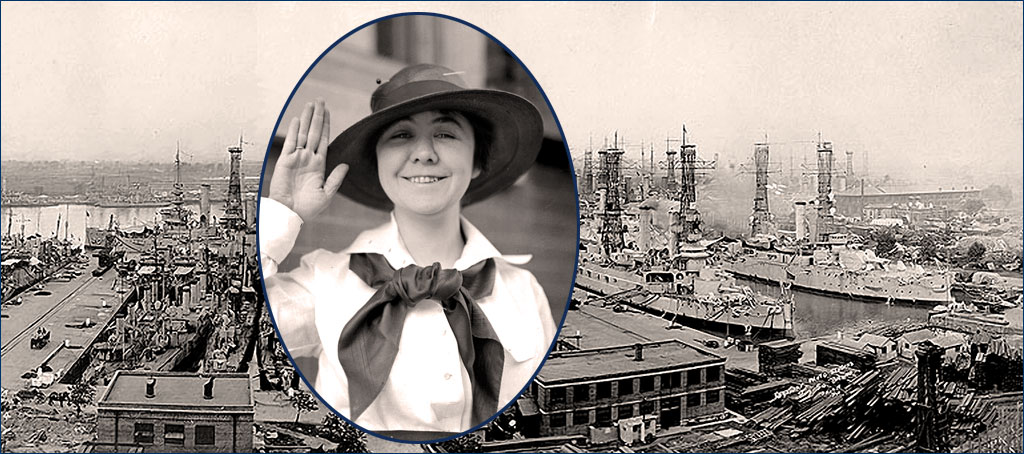 First woman to enlist in the U.S. Navy, Loretta Walsh