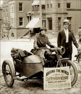 Pioneering motorcyclist Della Crewe