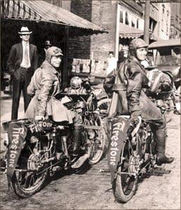 Pioneer motorcyclists Augusta and Adeline Van Buren