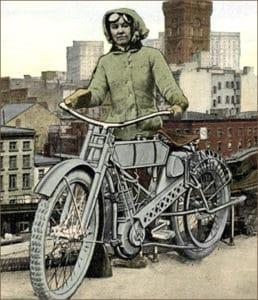Pioneer female motorcyclist Clara Wagner